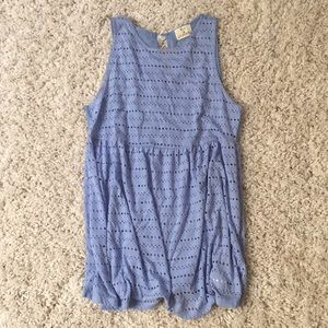 Flowy Blue Pins and Needles Top